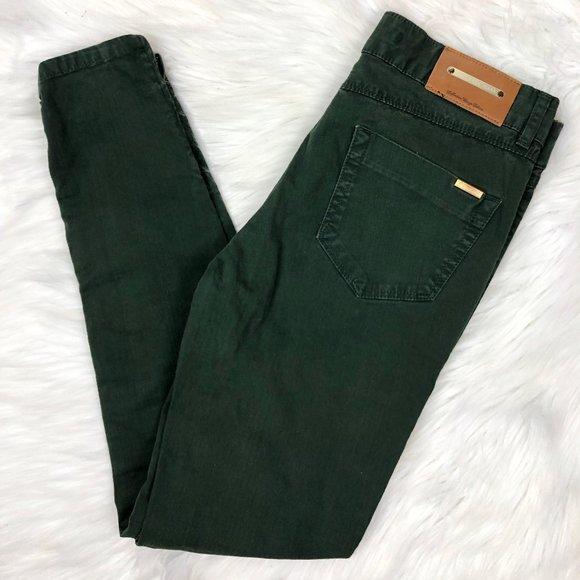 Zara Denim - Zara Basic Jeans Denim Skinny Leg Green Size 4